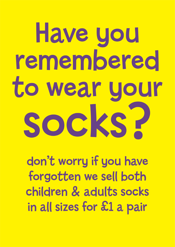 wear socks